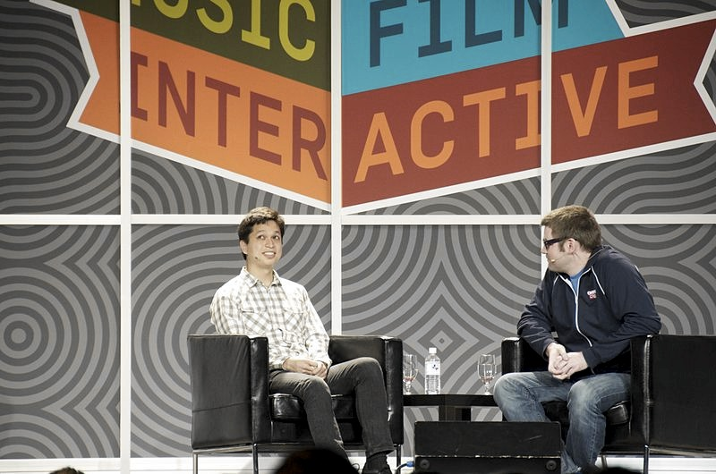 Ben Silbermann (a sinistra) al South by Southwest Interactive nel 2012 (foto di Mike Deeroski via Flickr)