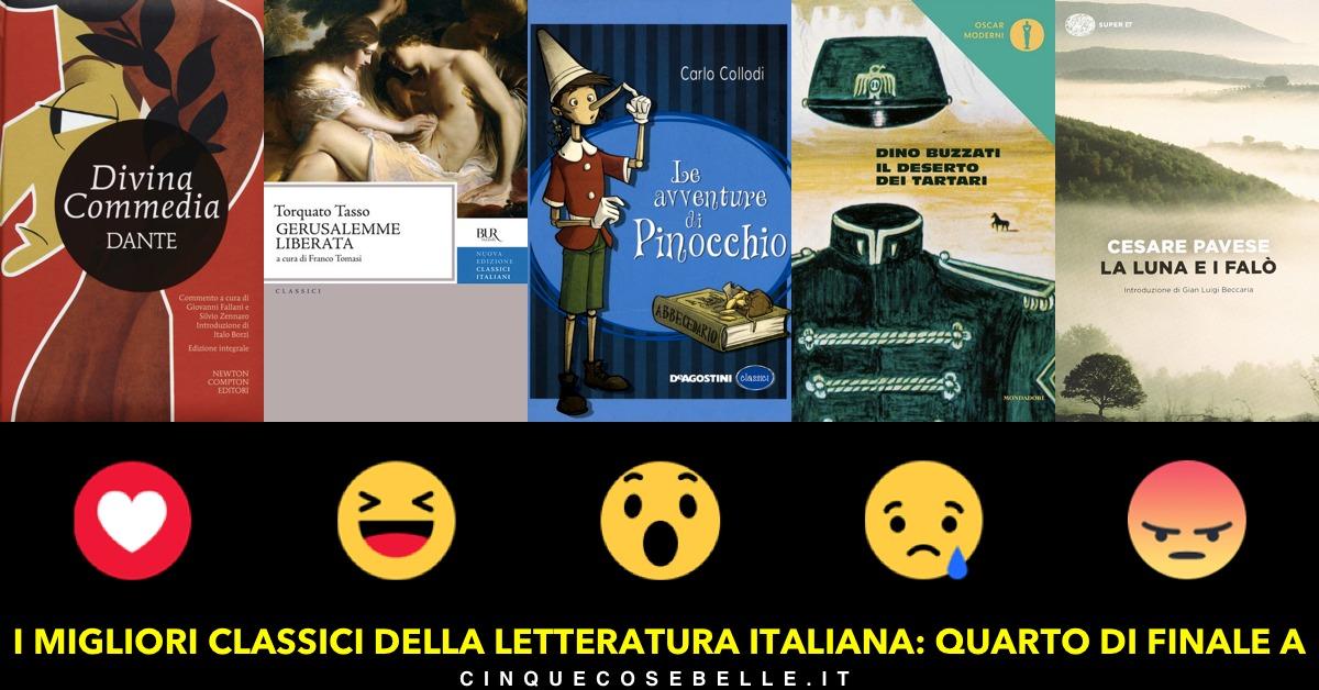 Il primo gruppo dei classici della letteratura italiana