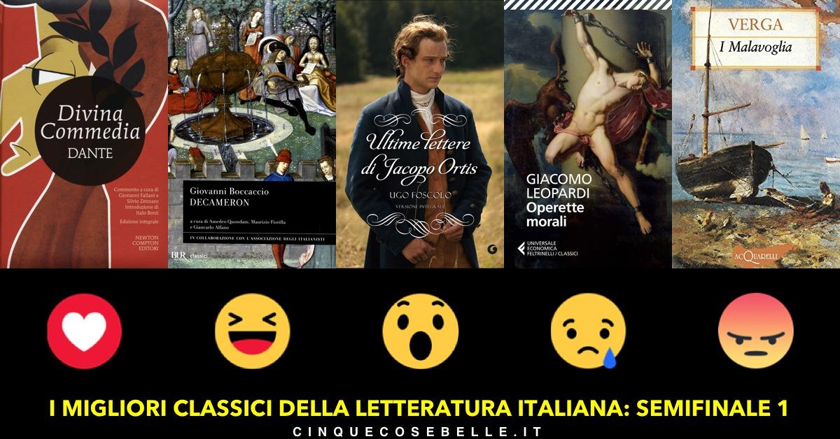 Il sondaggio sui migliori libri classici italiani arriva alle semifinali