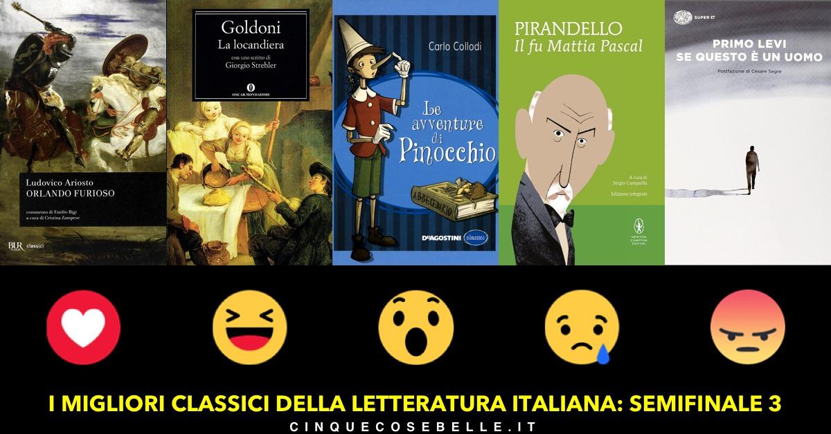 La terza semifinale del sondaggio sui migliori classici italiani