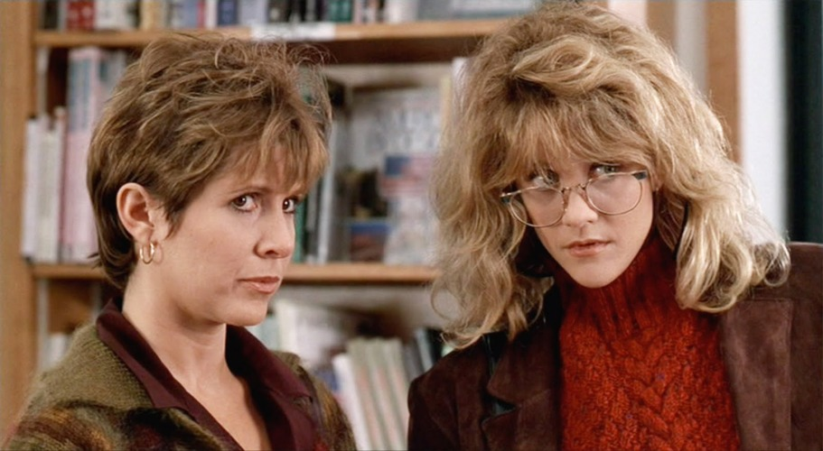 Carrie Fisher assieme a Meg Ryan in Harry, ti presento Sally...