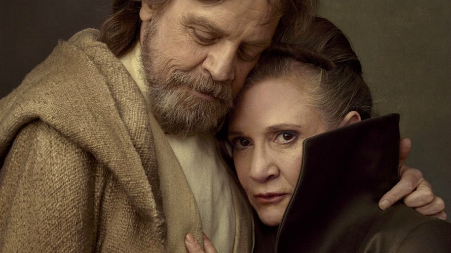 Carrie Fisher e Mark Hamill, ovvero la principessa Leila e Luke Skywalker