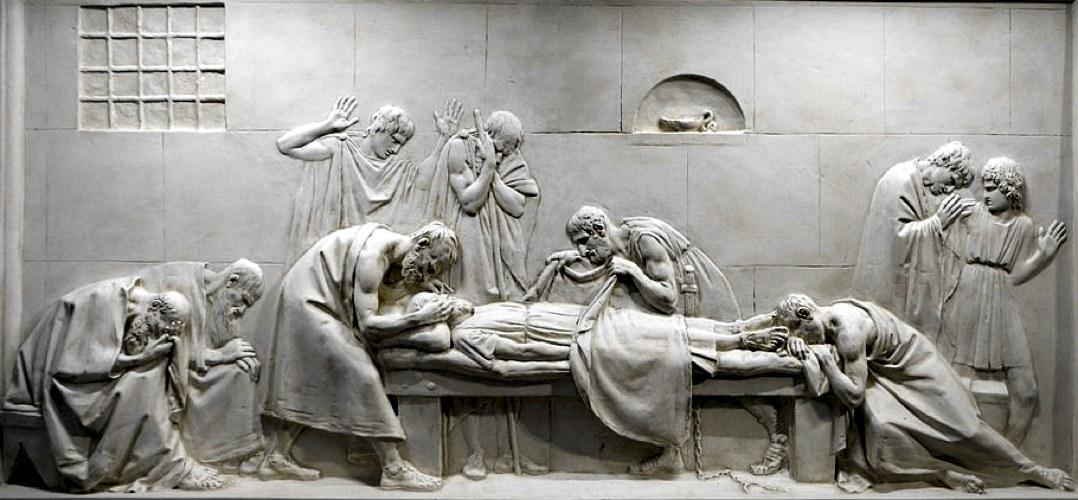Il bassorilievo Critone chiude gli occhi a Socrate di Antonio Canova