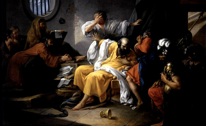 La morte di Socrate di Jacques-Philippe-Joseph de Saint-Quentin