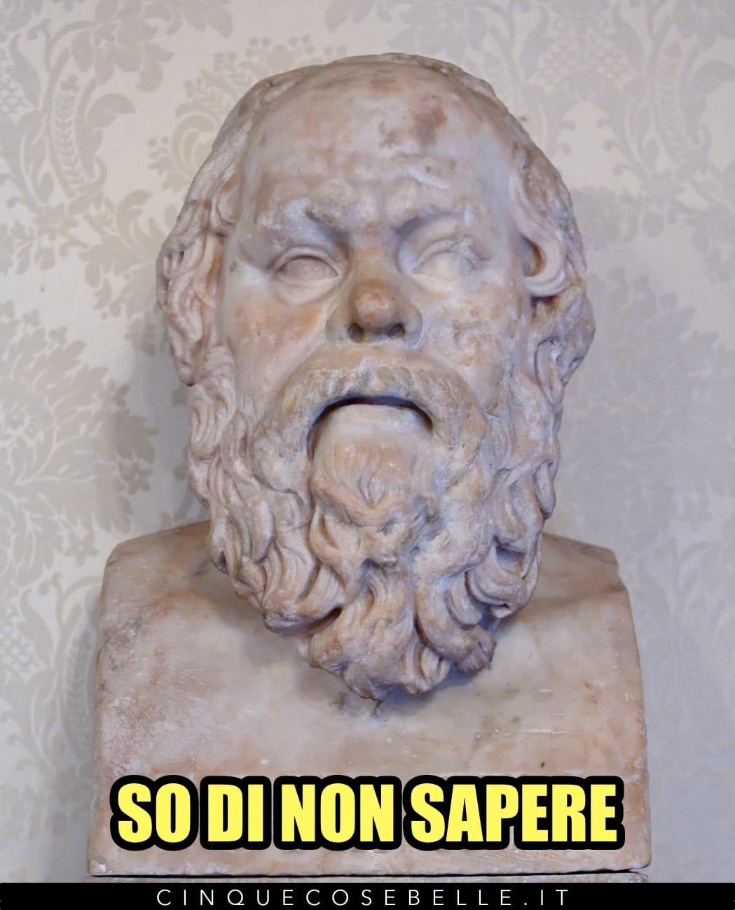 Il so di non sapere di Socrate