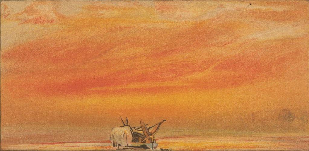Uno dei disegni a pastello con cui William Ashcroft ritrasse il cielo inglese dopo l'eruzione del Krakatoa