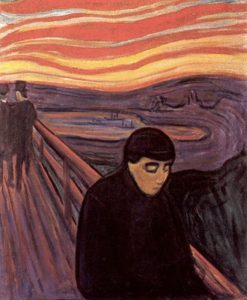 Disperazione, altro quadro di Munch (datato 1894) che ritraeva la stessa scena de L'Urlo
