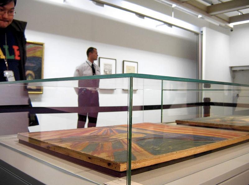 La teca che conserva oggi L'urlo al Museo Munch (foto di Tu via Flickr)