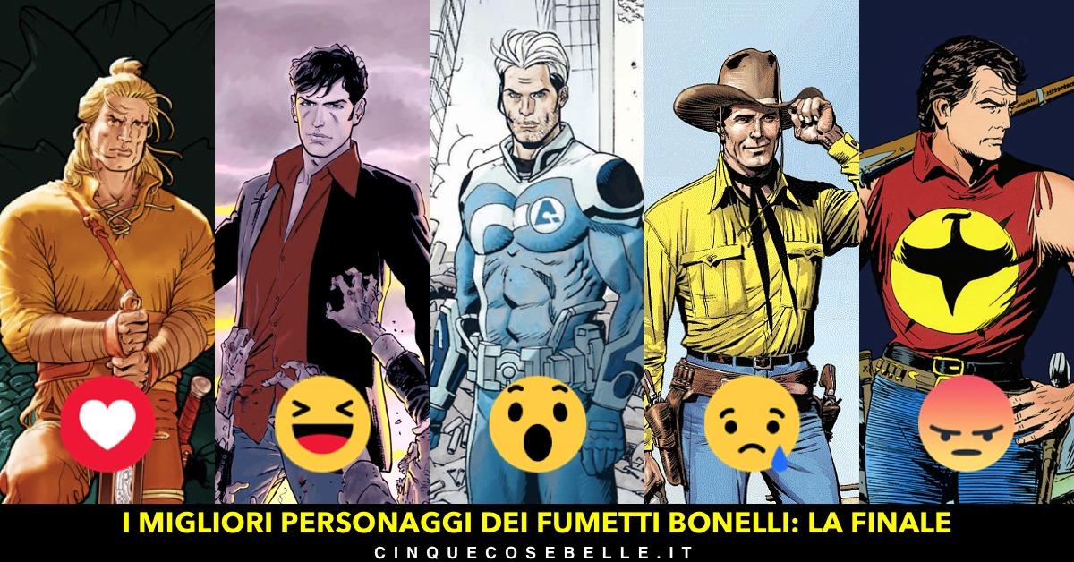 La finale del nostro sondaggio sul miglior personaggio dei fumetti Bonelli
