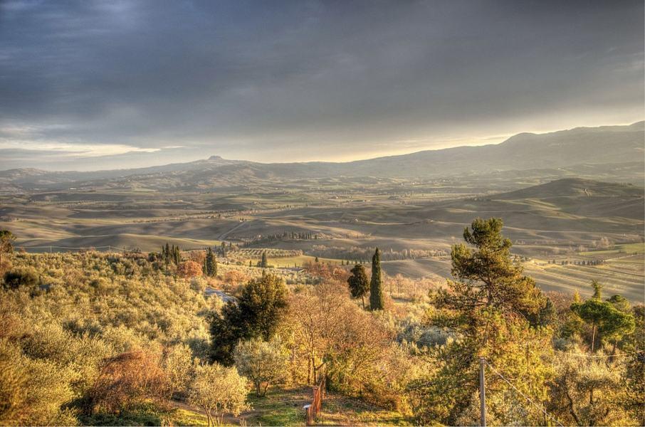 Le colline toscane viste da Pienza
