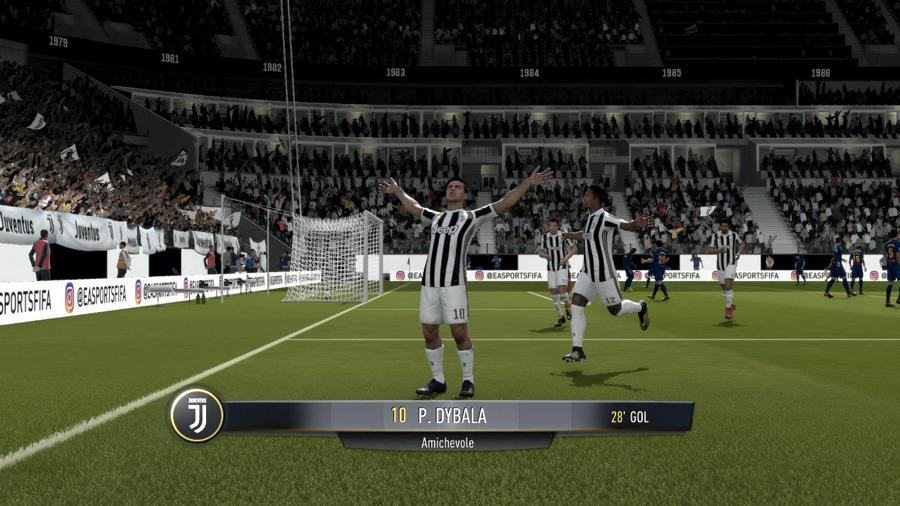 I festeggiamenti dopo un gol in Fifa