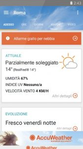La versione italiana di AccuWeather
