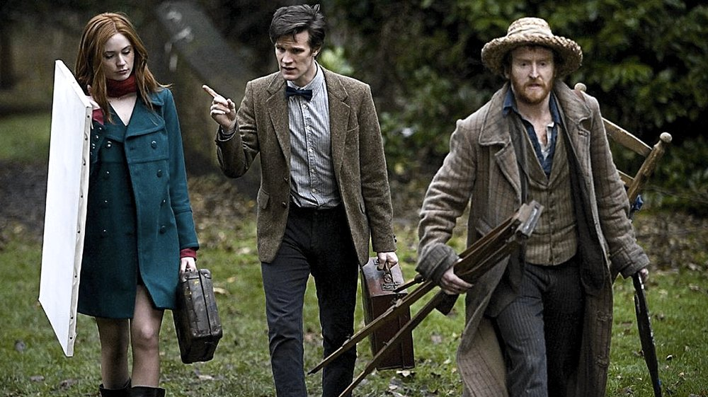 Karen Gillan, Matt Smith e Tony Curran in Vincent e il Dottore
