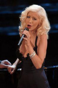 Christina Aguilera nel 2006 a Sanremo (foto di Raffaele Fiorillo via Flickr)