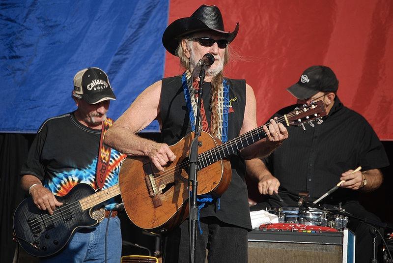 Willie Nelson nel 2009 (foto di Bob Tilden via Flickr)