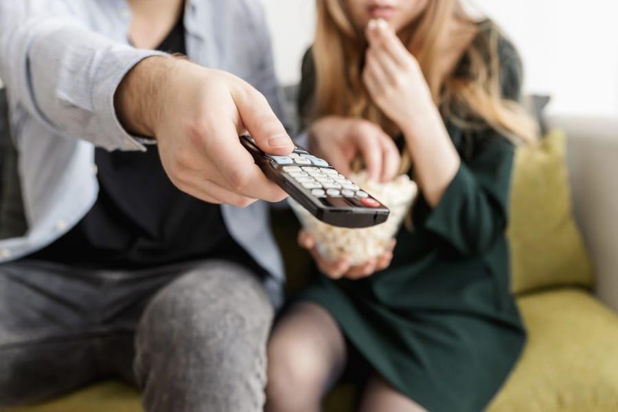 Guardando film in coppia