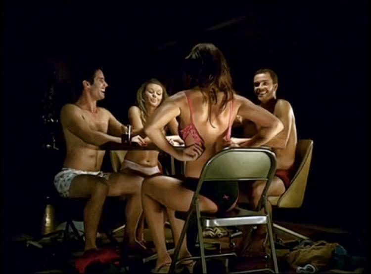 Una vecchia pubblicità che conteneva un accenno di strip poker