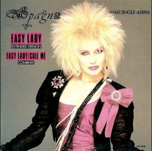 Ivana Spagna sulla copertina di Easy Lady