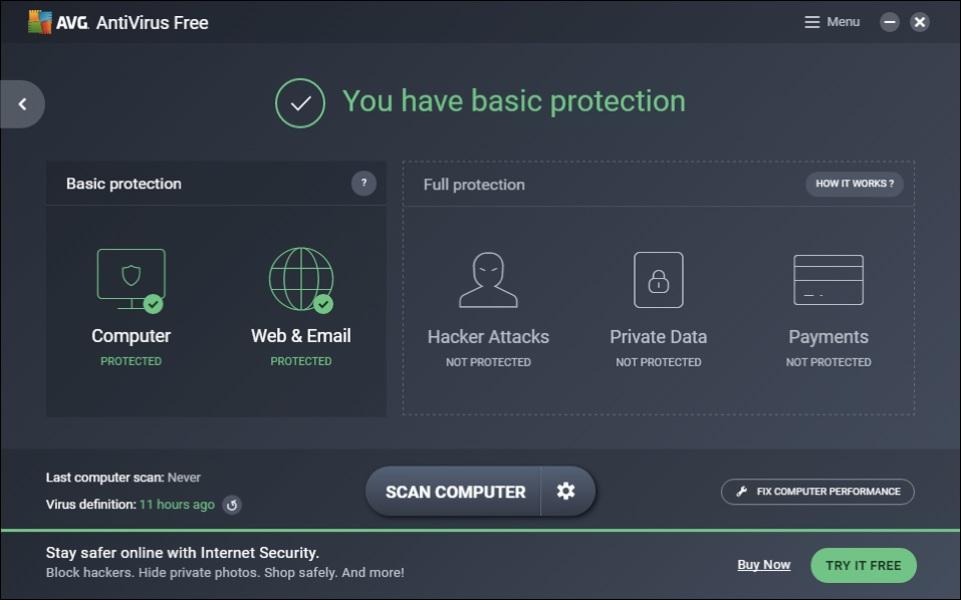 AVG è uno dei migliori antivirus gratuiti