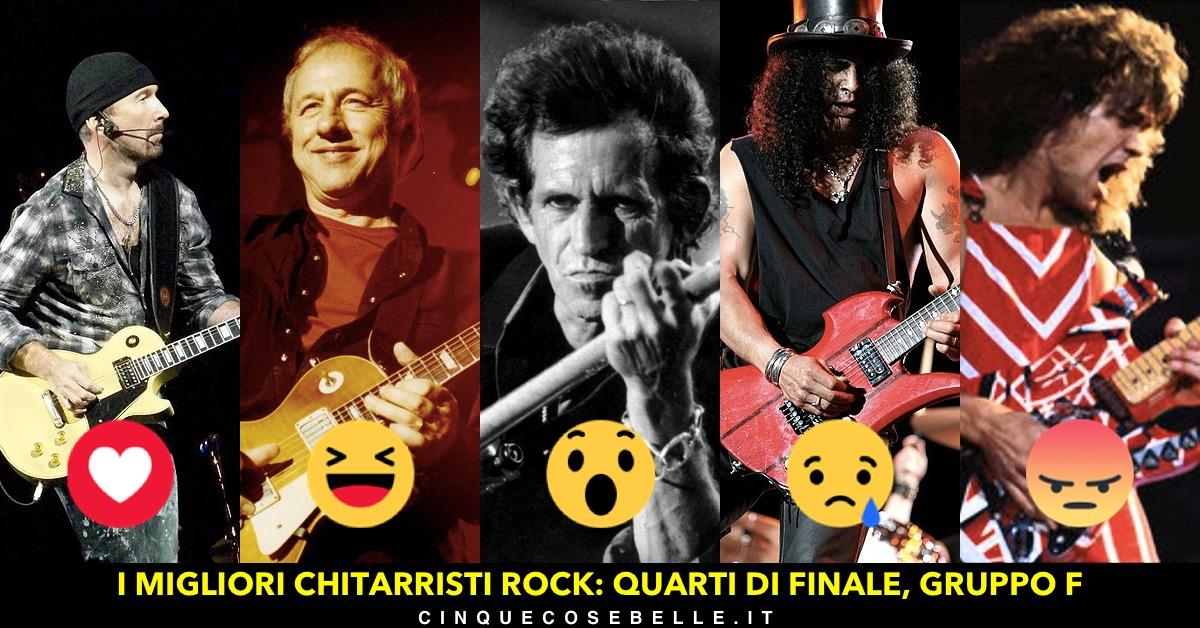 Il sesto gruppo per i più famosi chitarristi rock