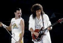 Freddie Mercury e Brian May dei Queen