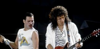 Freddie Mercury e Brian May dei Queen