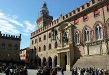 Palazzo d'Accursio, sede del municipio della più popolosa città dell'Emilia-Romagna, Bologna