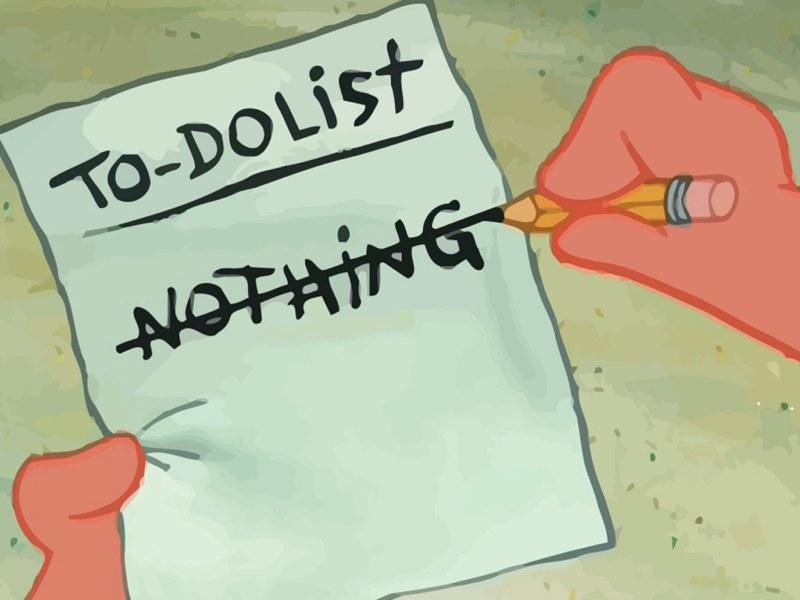 Le liste riempiono il tempo