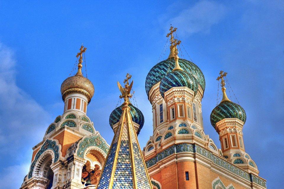 La chiesa russa ortodossa di Nizza