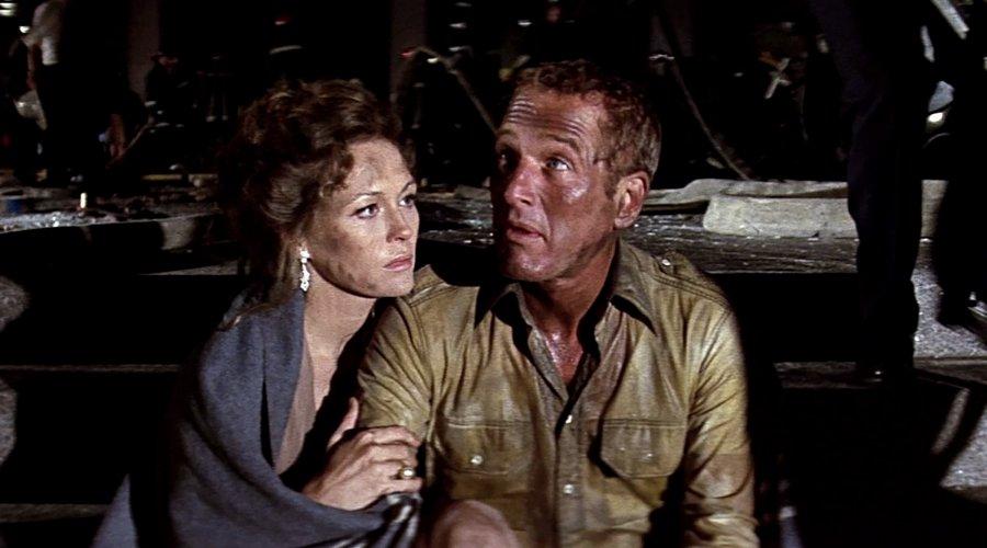 Paul Newman e Faye Dunaway in L'inferno di cristallo