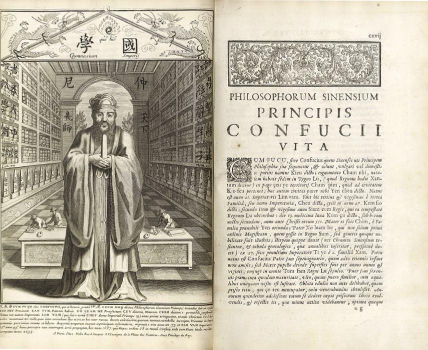 Il Confucius Sinarum Philosophus del 1687, uno dei primi libri occidentali a parlare di Confucio