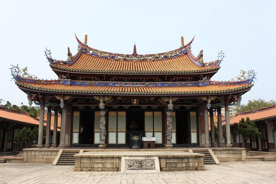 Un tempio confuciano a Taipei