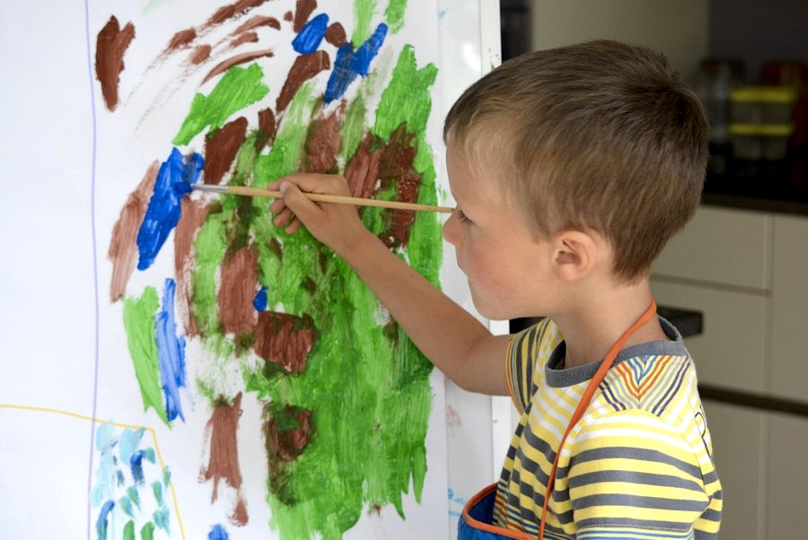Dipingere a 3 anni