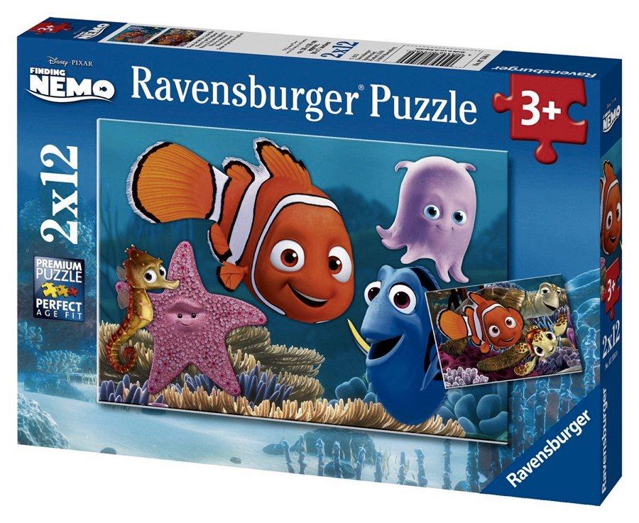 Un puzzle per bambini di 3 anni ispirato al film Alla ricerca di Nemo