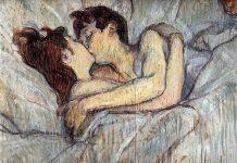 Il bacio a letto di Henri de Toulouse-Lautrec, che raffigurava due prostitute lesbiche intente in atti d'affetto