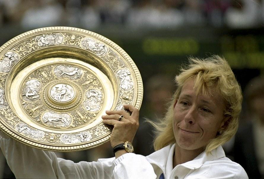 Martina Navrátilová trionfatrice a Wimbledon nel 1990