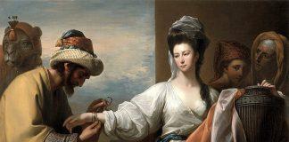 La Rebecca biblica con un servitore di Isacco (quadro del pittore settecentesco Benjamin West)