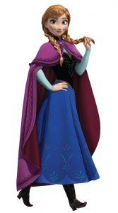 Anna, la sorella di Elsa in Frozen
