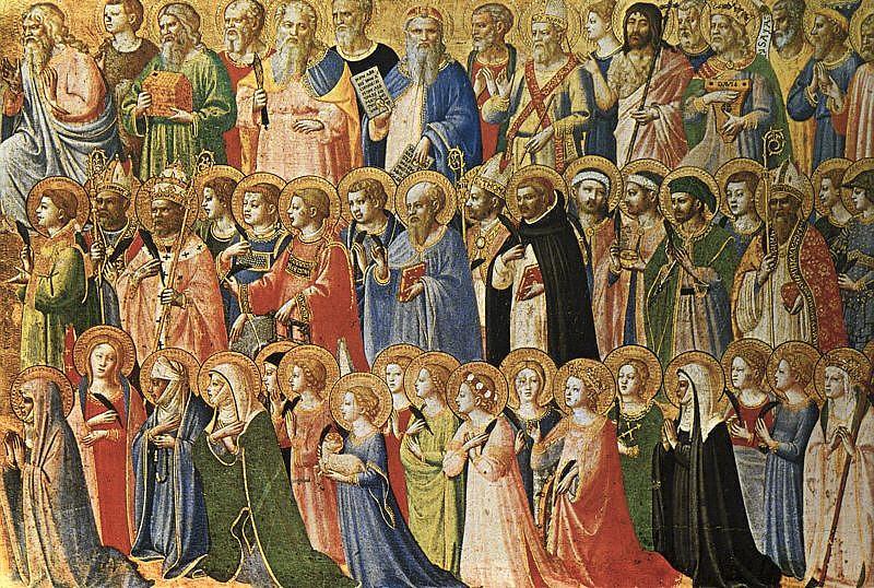 I santi e beati in un dipinto del Beato Angelico oggi alla National Gallery di Londra
