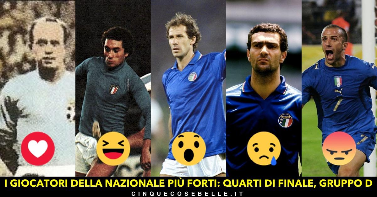 Il quarto gruppo del nostro sondaggio sui migliori giocatori della nazionale italiana