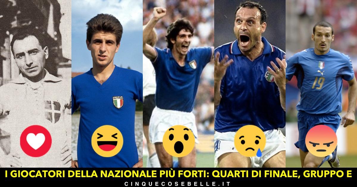 Il quinto gruppo del nostro sondaggio sui migliori giocatori della nazionale italiana