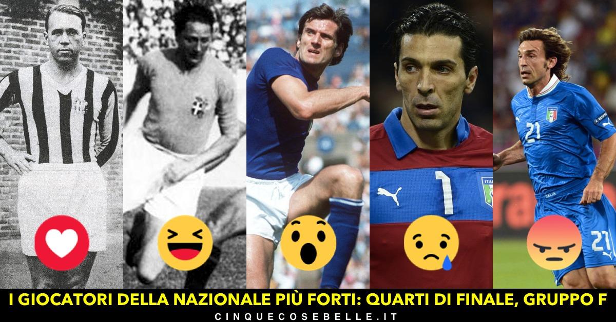 Il sesto gruppo del nostro sondaggio sui migliori giocatori della nazionale italiana