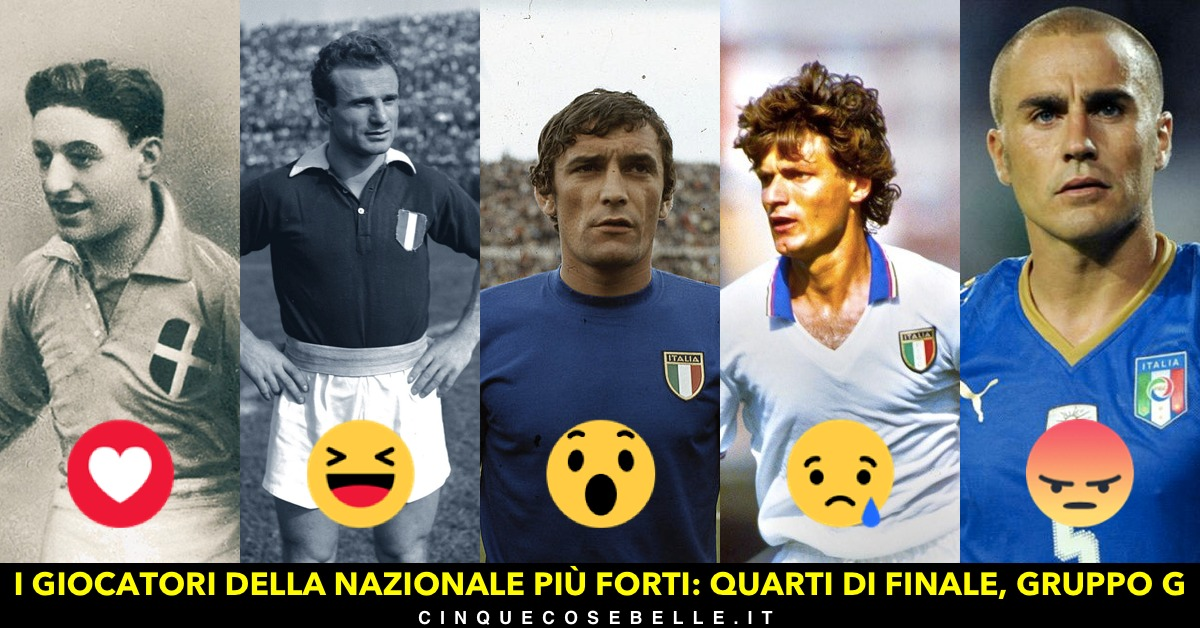 Il settimo gruppo del nostro sondaggio sui migliori giocatori della nazionale italiana
