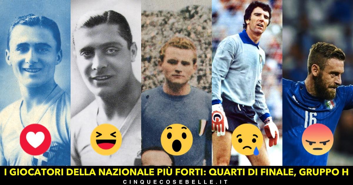 L'ottavo gruppo del nostro sondaggio sui migliori giocatori della nazionale italiana