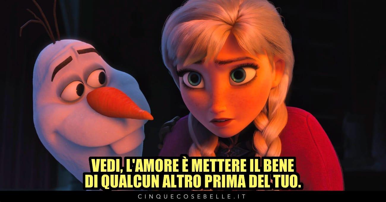Una celebre citazione da Frozen