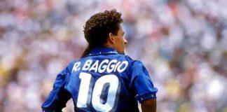Roberto Baggio col numero 10 della Nazionale