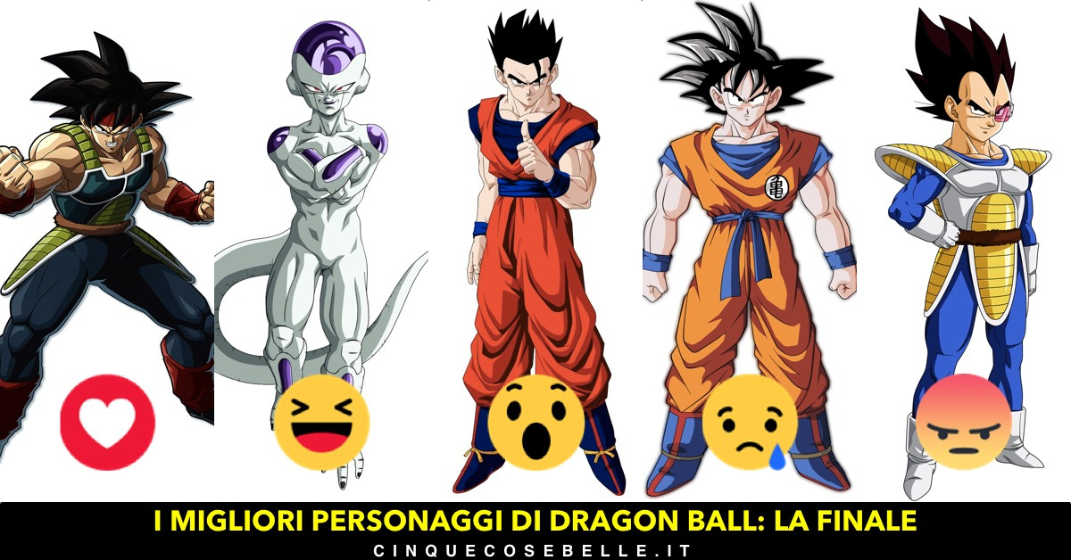 La finale sui personaggi di Dragon Ball