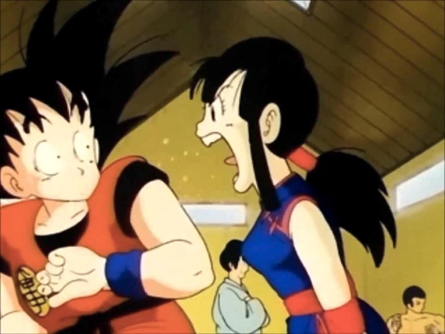 Goku di Dragon Ball subisce la rabbia della moglie Chichi