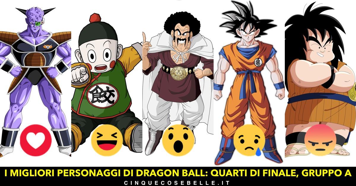 Il primo gruppo dei personaggi di Dragon Ball