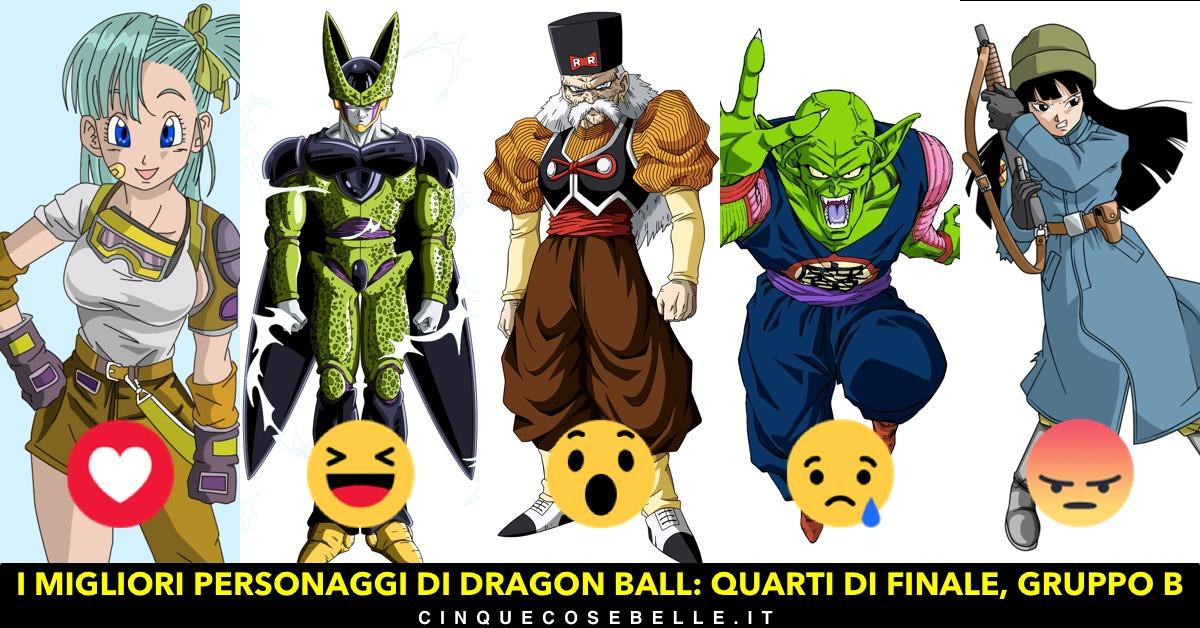 Il secondo gruppo dei personaggi di Dragon Ball